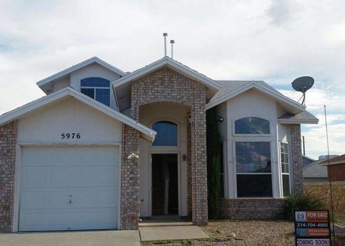 5976 Equinox Ct, El Paso TX Foreclosure Property