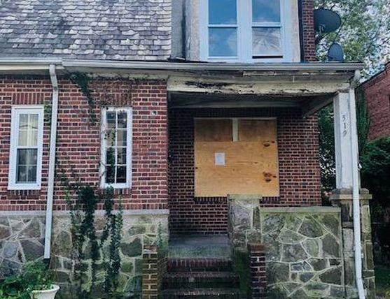 519 Harwood Ave, Baltimore MD Foreclosure Property