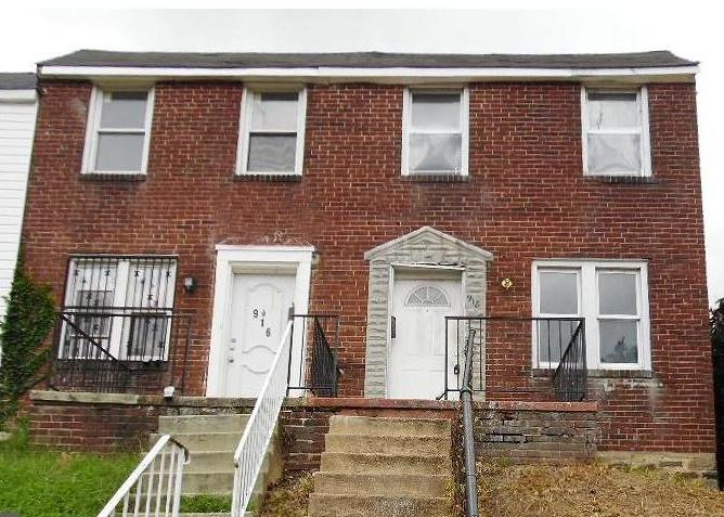 918 N Ashburton St, Baltimore MD Foreclosure Property