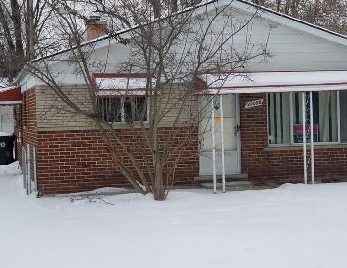 20098 Seminole, Redford MI Foreclosure Property
